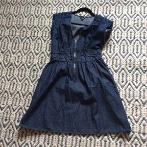 Guess Deep Blue Denim Midi Dress